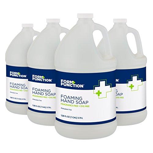 Form + Function Fragrance Free Dye Free Foaming Hand Soap, 1 gal, 4-Pack - 10072785133805 (Gallon Foam Soap)
