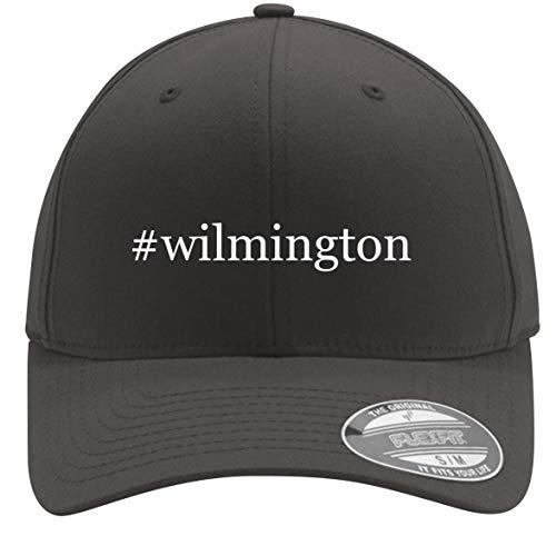 #Wilmington - Adult Men's Hashtag Flexfit Baseball Hat Cap, Dark Grey, Small/Medium