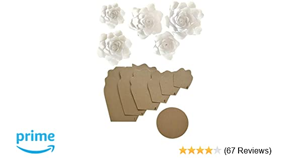 Amazon paper flower template kit make your own paper flowers amazon paper flower template kit make your own paper flowers paper flowers decoration make unlimited flowers diy do it yourself make all mightylinksfo