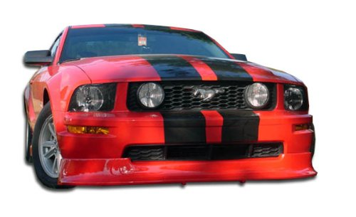 Duraflex Replacement for 2005-2009 Ford Mustang V6 Racer Front Lip Under Spoiler Air Dam - 1 - V6 Mustang Ford Racer