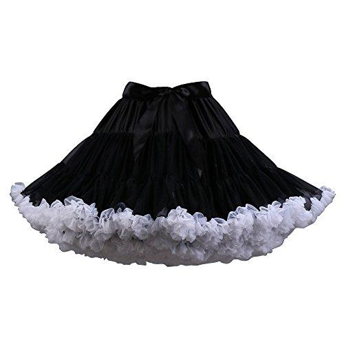 en de Jupe tutu Jupe Mini OCHENTA mousseline soie de Tulle Blanc ballet femmes Noir jupe Femme Danse EAxqPnxSH