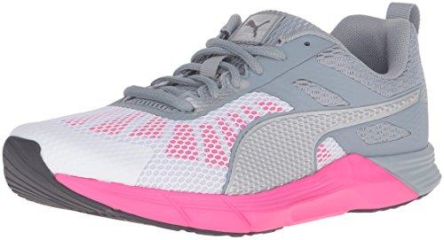 PUMA Womens Propel Wns Running Shoe Puma White/Quarry/Pink Glow