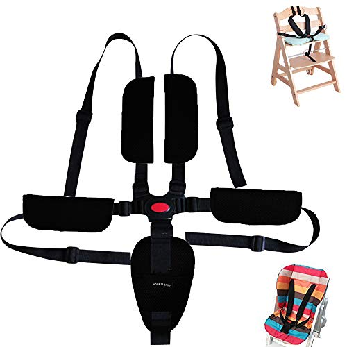 Baby Seat Belt - High Chair Strap 5/4/3 Point for Child Stroller Pram Buggy Pushchair Adjustable