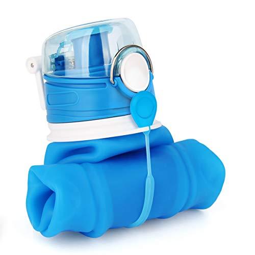 Valourgo 35 oz Collapsible Water Bottle, Large bpa Free Travel Water Bottle Reusable Water Bottle]()