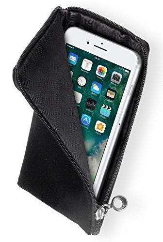 yayago Soft Case Schwarz Tasche Hülle mit Reißverschluss für Apple iPhone 7 / iPhone 8