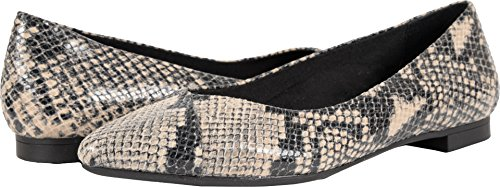Vionic Womens Caballo Ballet Flat Natural Snake Size 9 Wide by Vionic