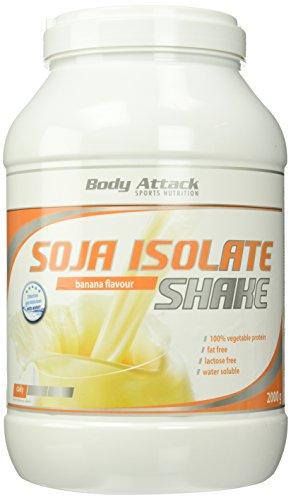 Body Attack Soja Isolate Shake, Banana, 1er Pack (1 x 2kg)