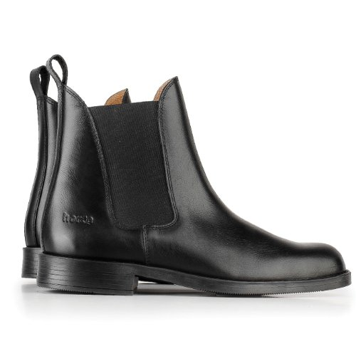 Horze Adult Classic Leather Jodhpur Boots - Size:Eu 39/us 8.5 Color:Black - UK Size: 7.5 by Horze