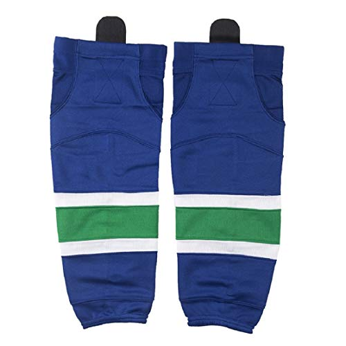 COLDINDOOR Ice Hockey Socks Youth, Boy Child Hockey Practice Dry Fit Mesh Hockey Socks Kids XS Blue