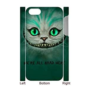 3D We're All Mad Here Green iPhone 4/4s Case White Kimberly Kurzendoerfer