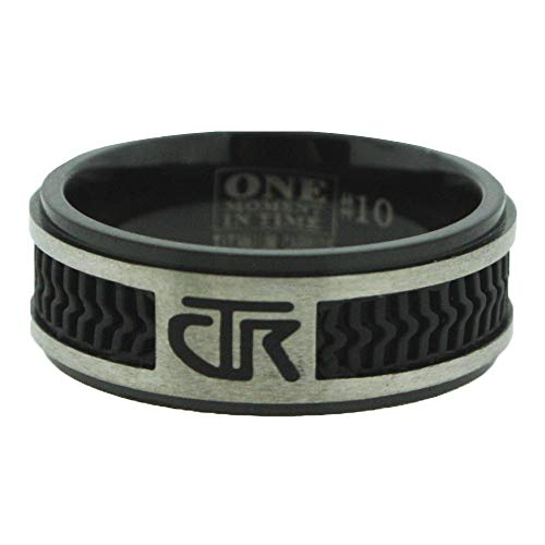 One Moment In Time J120 - Elements - Black Titanium with Rubber Inlay - CTR Ring (7.5)