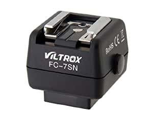 Conseguir VILTROX FC-7SN Zapata caliente adaptador inalámbrico controlador de flash para Sony y Minolta Cámara (Negro)