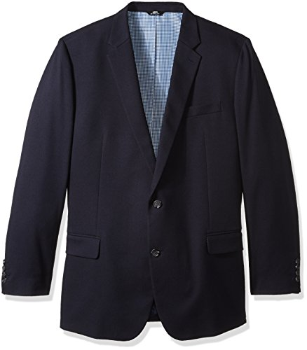 Haggar Men's Big and Tall Motion Travel Stretch Classic Fit Blazer, Midnight, 52L Big Tall Blazer