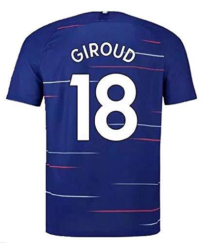 terfgrt Chelsea Giroud # 18 Soccer Jersey 2018-2019 Home Mens Jersey Blue(S-XXL) (S)