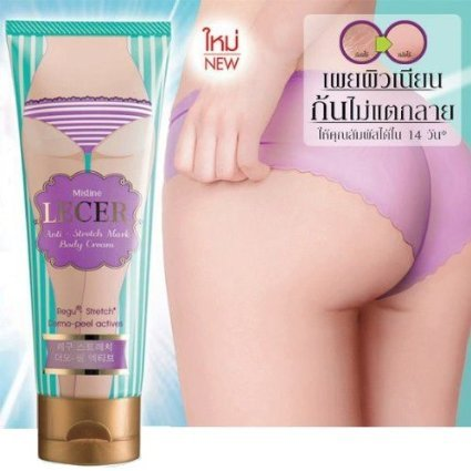"""Thai Happy"" Mistine Lecer Crème Bikini Aisselle Elbow Anti Vergetures corps blanchissant actif 100 G."
