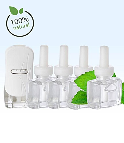 NEW - (4 Pack) 4 Scent Fill® Brand 100% Natural Peppermint refills AND (1) Glade® Warmer (Peppermint Freshener Air)