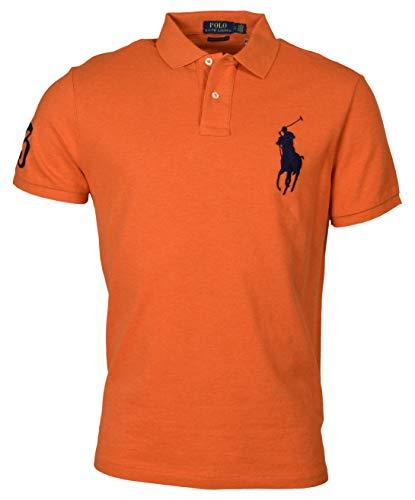 Polo Ralph Lauren Men's Custom Slim Fit Big Pony Polo Shirt - L - Orange ()