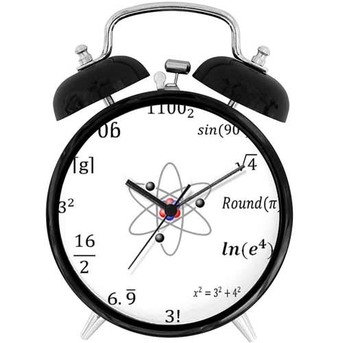 22yiihannz Desk Clock 4in Sheldon Cooper - Unique Decorative Battery Operated Quartz Ring Alarm Clock for Home,Office,Bedroom.