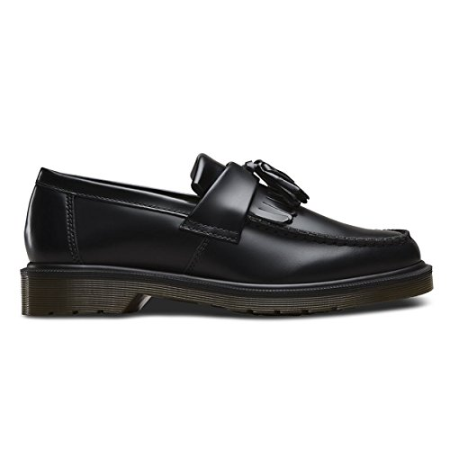 Dr. Martens Women's Adrian Tassle Fashion Loafers, Black, Leather, 5 M UK, 7 M US (Kiltie Leather Slip)