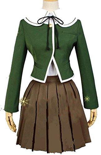[Harry Shops Dangan Ronpa Chihiro Fujisaki Cosplay Costume-Small] (Chihiro Cosplay Costume)