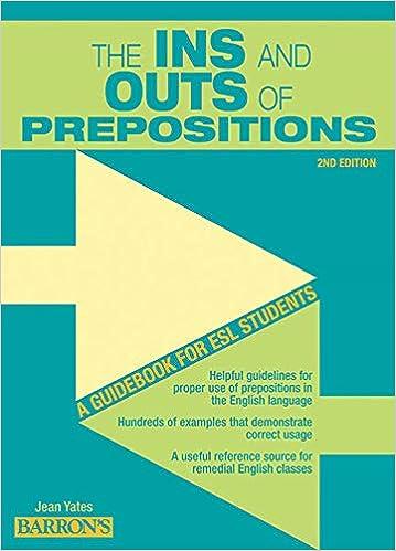 Of English Preposition Book