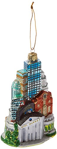 Kurt Adler 5-Inch Glass Boston Cityscape Ornament
