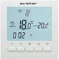 AVStar - Termostato Inteligente programable para calefacción de calderas de Gas - Pantalla LCD para Facilidad de Control…