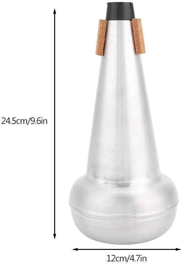 Adjustable Cup Mute for Bass Trombone Vbestlife Trombone Straight Mute Practice Trombone Straight Mute Silencer Sourdine Aluminum Material for Alto Tenor Trombones