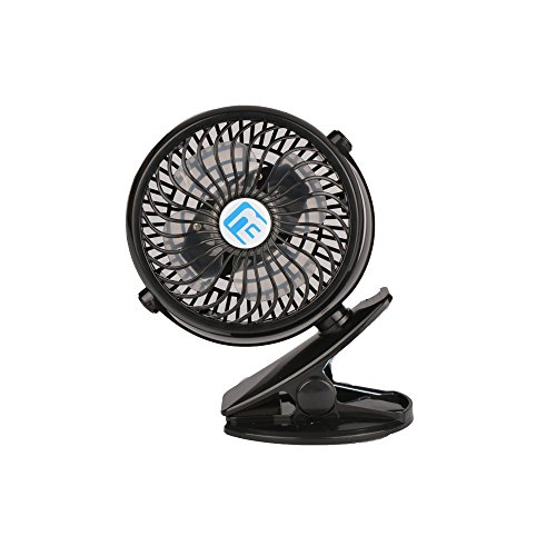 USB Clip Desk Personal Fan, table fans,clip on fan,2 in 1 Applications, Strong Wind, 2 Speed Portable Cooling Fan USB Powered by NetBook, PC
