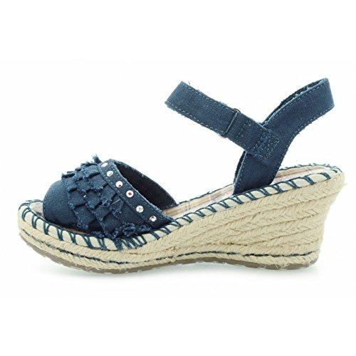 Skechers TikisRuffle Ups 86532L DEN - Sandalias de lona para niña Azul