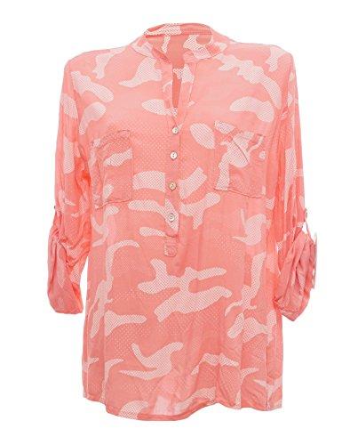 Moda Italy - Camisas - Túnica - cuello mao - para mujer Rosa