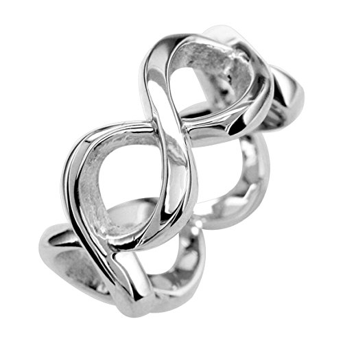 Infinity Promise Rings For Her in 18k White Gold - size 12.5 by Sziro Infinity Rings