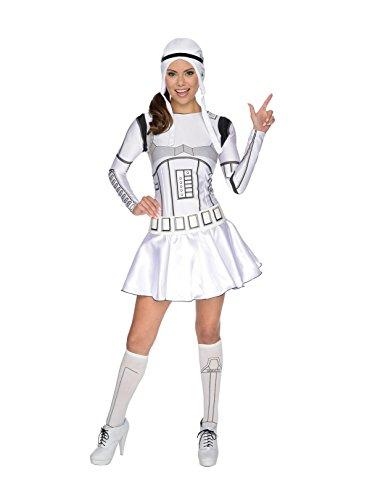 (Secret Wishes Star Wars Female Storm Trooper, White/Black, Medium)