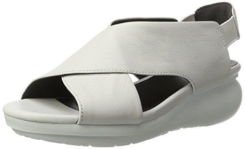 Sandali Donna Palloncino Camper Tacco Bianco (bianco Naturale 009)