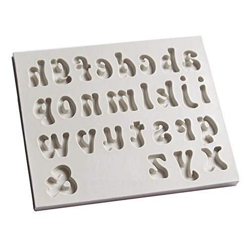 Sugarcraft 1 pieza Capital/carta/número molde de silicona Fondant molde decoración de pasteles herramientas Chocolate NY Cake Mold: Amazon.es: Hogar
