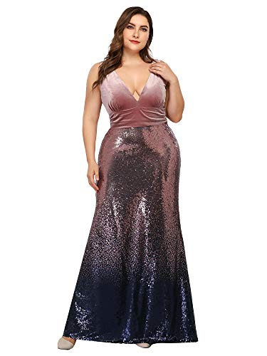Ever-Pretty Womens Elegant Sequined Gradual Party Formal Evening Dresses for Women Orchid US 16