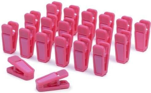 Slim-Line Set of (20) Finger Clips (Hot Pink)