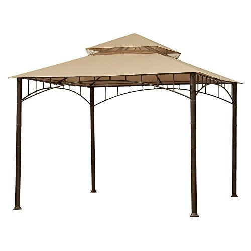 Garden Winds Replacement Canopy for Summer Veranda Gazebo Models L-GZ093PST, G-GZ093PST, (WILL NOT FIT ANY OTHER - Living Gazebo Summer
