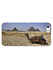 3d Full Wrap Case for iPhone 5/5s Animal Camel Resting Near The Pyramids