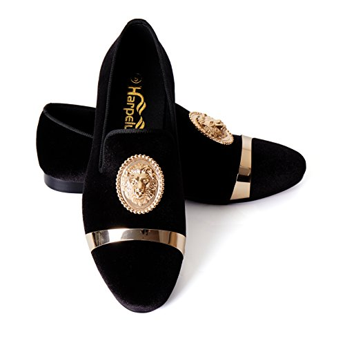 Animal Buckle Men Dress Shoes with Gold Plate - Gold Plate Stylish