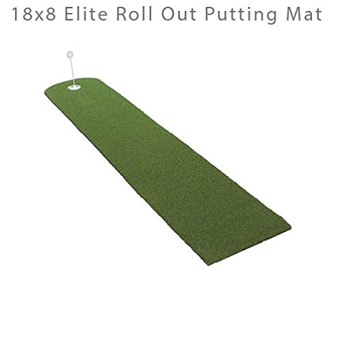 Putting Mat Elite 18″ x 8′ Roll Up Golf Green Indoor Outdoor