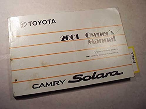 2001 toyota solara owners manual toyota amazon com books rh amazon com 2000 toyota echo owners manual Toyota Echo 2001 Carburetor Diagram