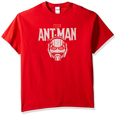 9a499b44d Galleon - Marvel Men's Ant-Man Logo T-Shirt, Red, 5XL