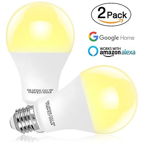 tonbux wifi smart light bulb no hub required alexa color led bulbs 10w work with echo and. Black Bedroom Furniture Sets. Home Design Ideas
