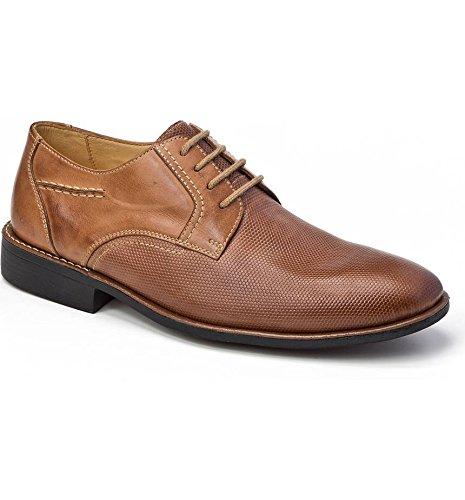 Sandro Moscoloni Uomo Trenso Plain Toe Derby Shoe Tan