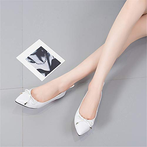 bow shoes slip flat colorful FLYRCX shoes single work Black non shoes casual shoes office Sweet women's 4SYw5