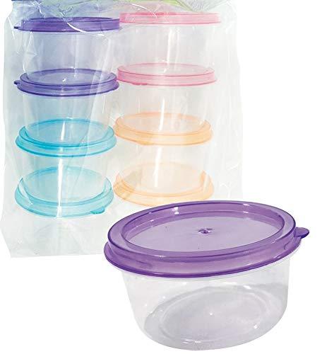 8 Mini Round Storage Containers 3 oz.
