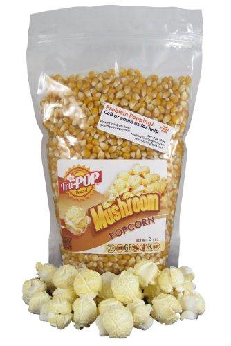 Mushroom Popcorn Kernels 2 Lbs - Just Poppin Brand (Mushroom Large)