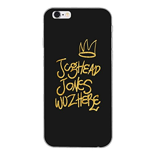 INT Black Gold Jughead Jones iPhone 6 Case Riverdale Theme 6S Cover Jug Head Jones Southside Serpents Archie Andrews South Side River Dale JP Jones Betty Veronica Drama Thriller, Plastic
