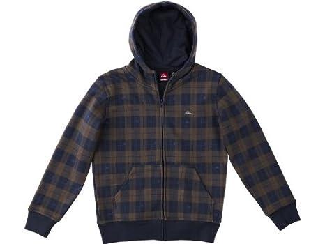 Quiksilver Hood zip - Sudadera para niño, tamaño 128, 8 años, color marrón